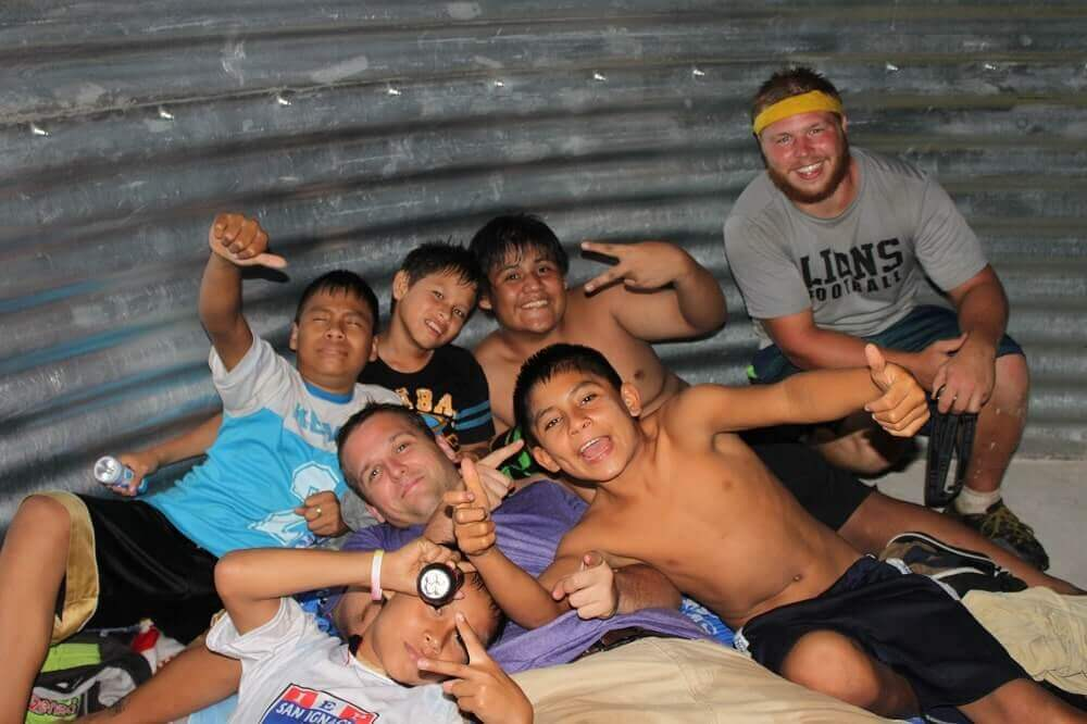 A group of boys in a Safe T Home in Peru