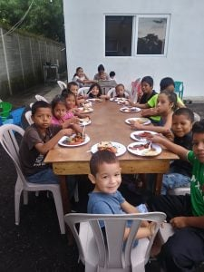 Child sponsorship funds provide a meal for 15 children