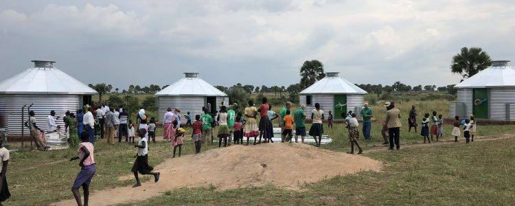 Orphan mission trip project builds Sukup Safe T Homes for Uganda refugee camps
