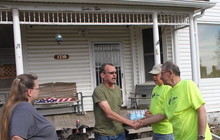John and Leisha receive disaster relief