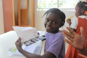 A young girl in the child sponsorship program